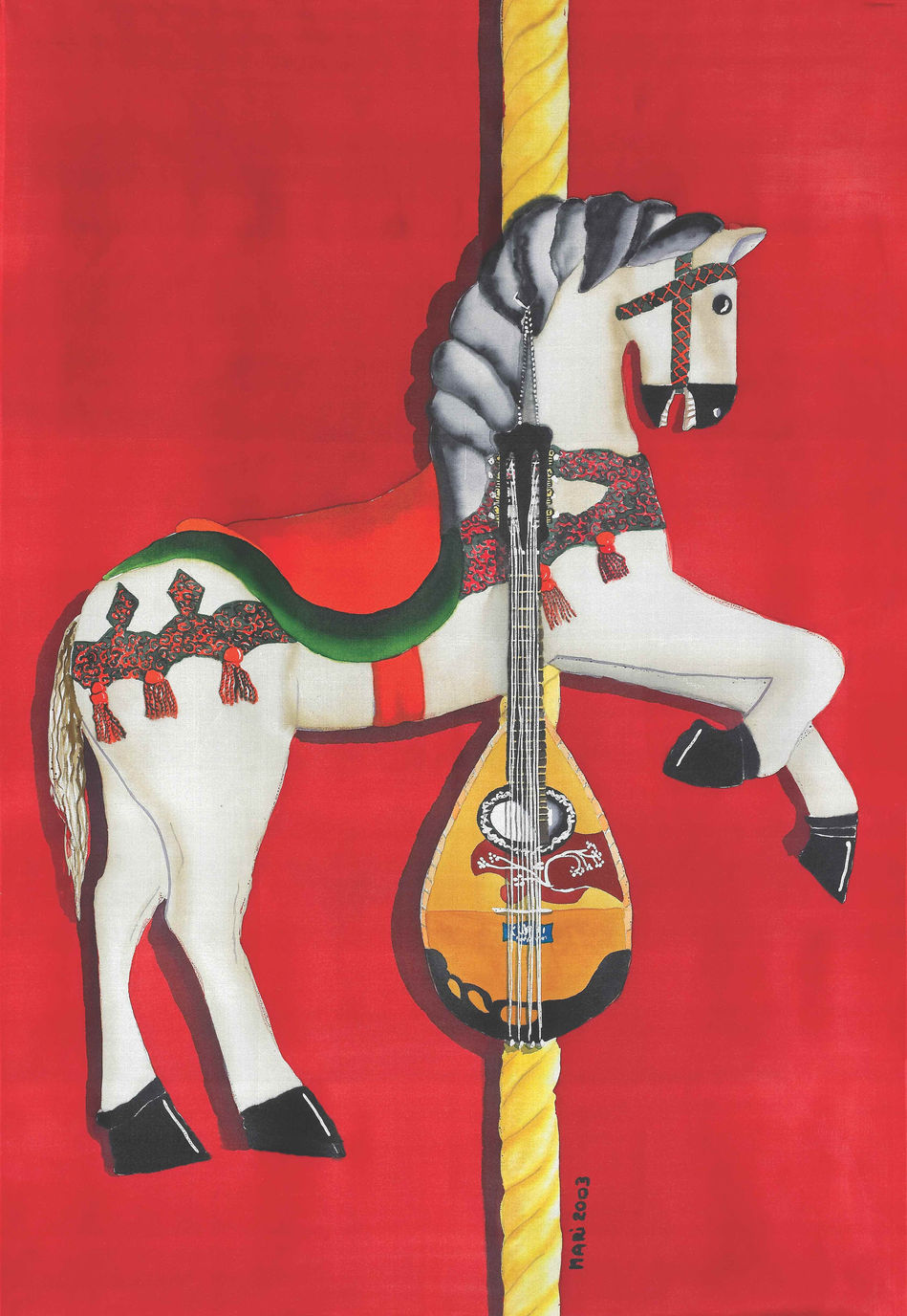 Carousel Horse in Red