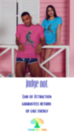 "unisex short sleeve t shirt ""Judge not"""