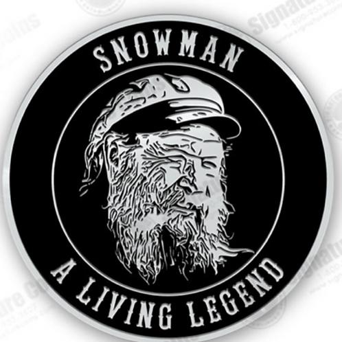 Snowman Support Challenge Coin