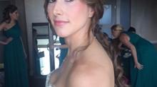 Glowy Natural Makeup & Romantic loose ponytail complement Bride's  vintage carefree Villa Wo