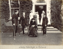 Lady Wantage with patients