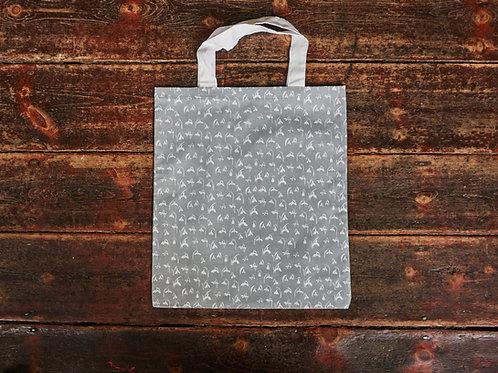 Soft Grey Canvas Bag