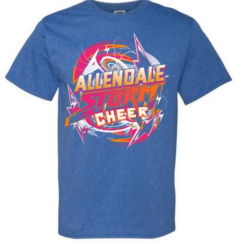 Allendale Storm Cheer Tees