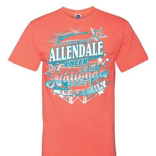Allendale Cheer Nationals Tees 2021