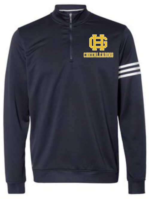 GH Adidas - ClimaLite 3-Stripes French Terry Quarter-Zip Pullover