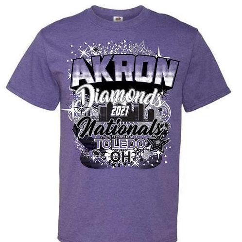 Akron Diamonds Cheer Nationals Tees 2021
