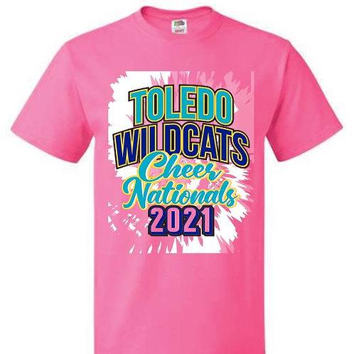 Toledo Wildcats Cheer Nationals Tees