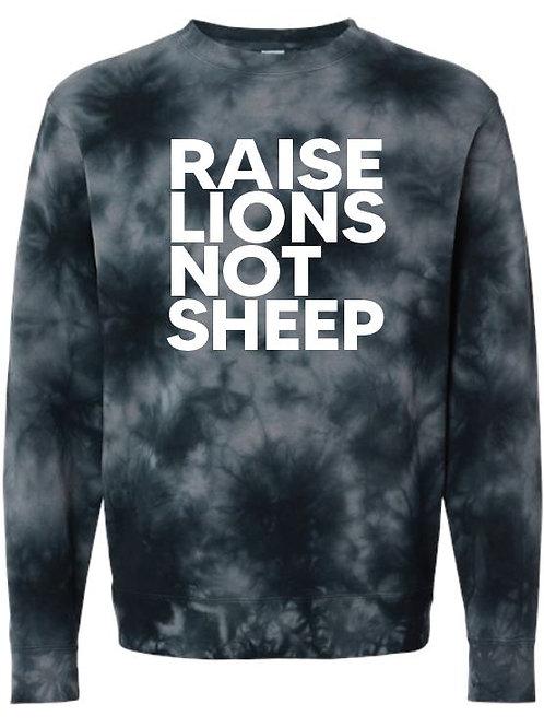 Raise Lions Not Sheep Crewneck