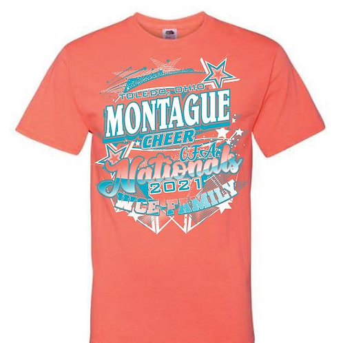 Montague Cheer Nationals Tees 2021