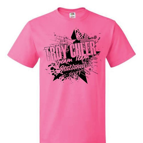 Troy Cheer Nationals Tees 2021