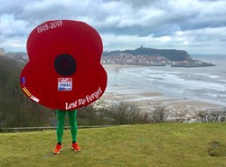 Giant poppy Owen ready for marathons challenge