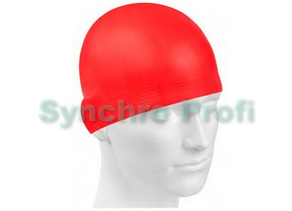 Шапочка для плавания Solid SOFT MADWAVE. Цвет красный.
