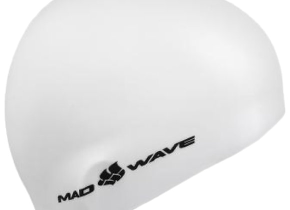 Шапочка Mad Wave Intensive Silicone Solid. Цвет белый.