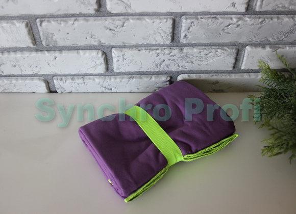 Спортивное полотенце ONLITOP, размер 80х130 см. Цвет фиолетовый.