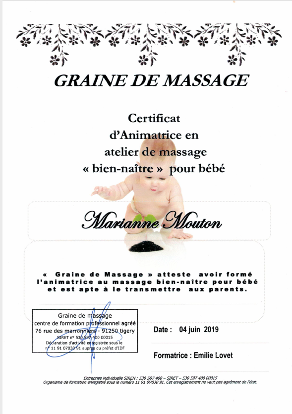 animatrice atelier massage