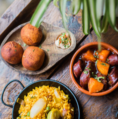 Croquetas/Chorizo & Paella