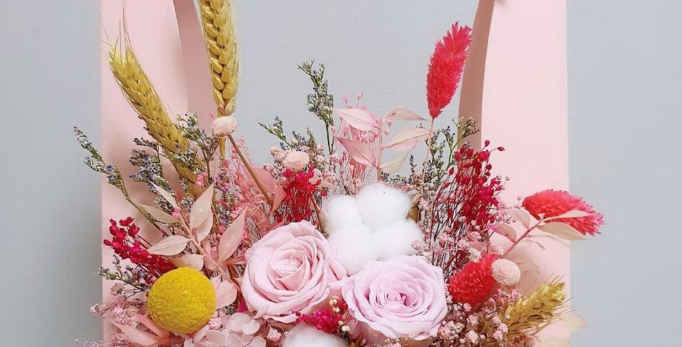 (FB12) Everlasting Pink Roses