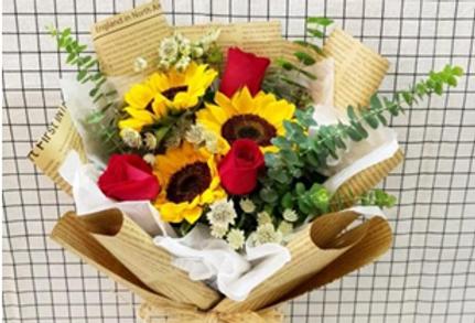 (SFR01) Passion - Sunflower & Rose