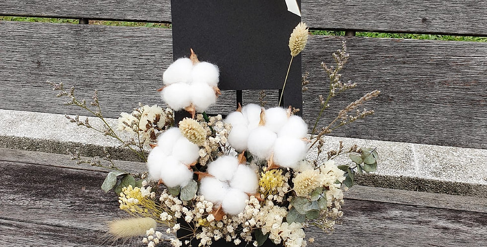 (FB08) Cotton Flower with Dried Blooms