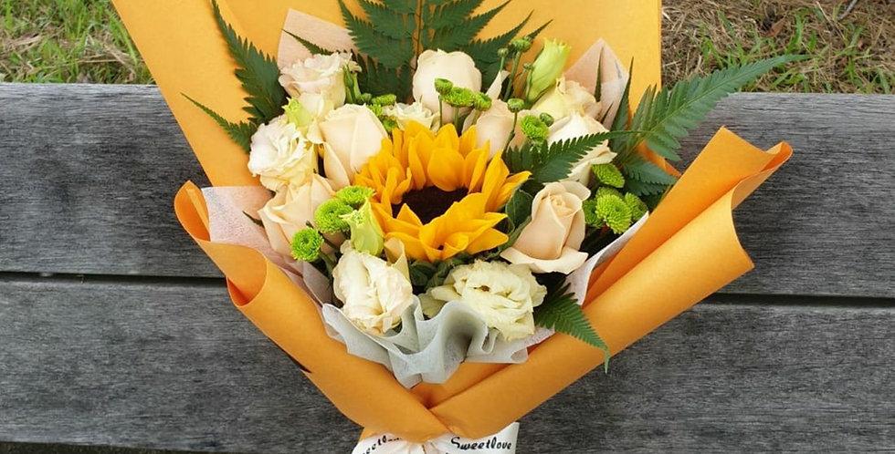 (SFR04) Amber - Sunflower & Rose