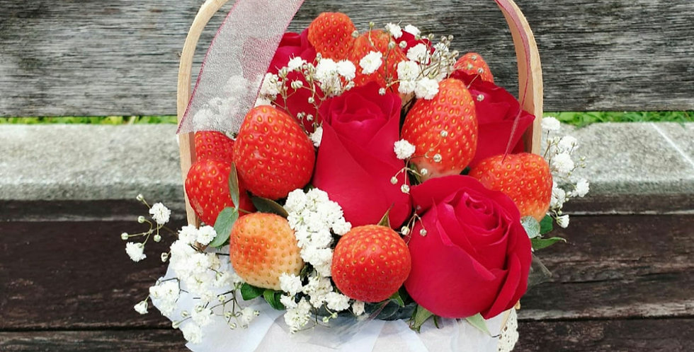 Strawberry Roses Basket