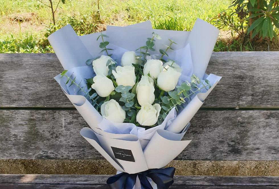 (R19) Blanc - Roses
