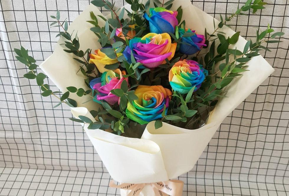 (R08) Rainbow - Roses