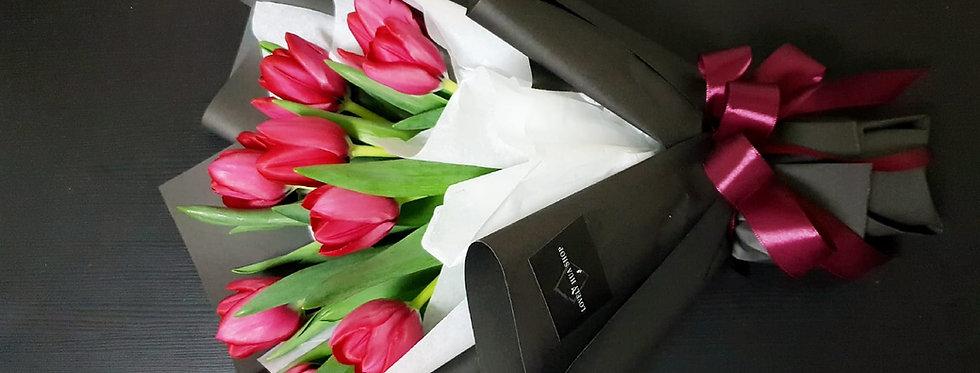 (T03) Dark Pink - Tulips