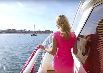 Woman walking on San Diego Yacht Boating