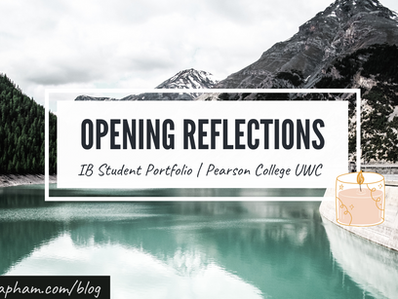 Opening Reflections