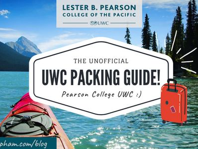 Pearson College UWC Packing List!