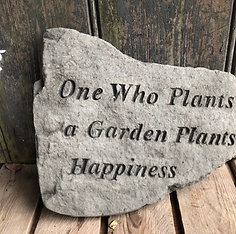 CONCRETE GARDEN HAPPINESS PLAQUE