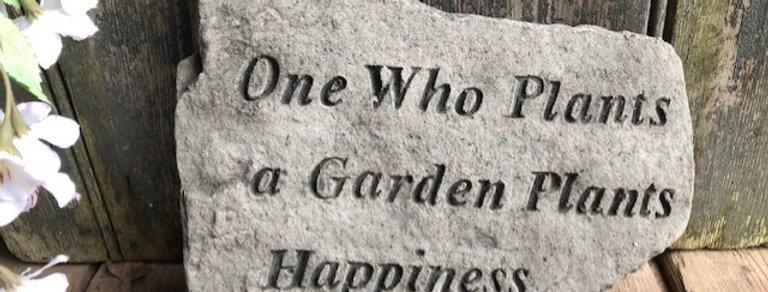 CONCRETE GARDEN HAPPINESS PLAQUE