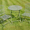 Thumbnail: GREY METAL GARDEN TABLE AND CHAIRS