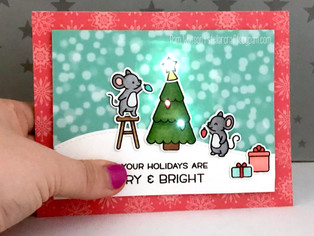Christmas in July... featuring Lawn Fawn Merry Mice Chibitronics Kit!
