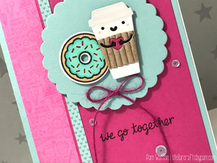 SSS February 2017 Coffee, Tea, and Cocoa Card Kit | Love Card featuring Lawn Fawn