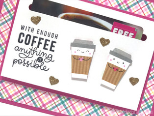 SSS February 2017 Coffee, Tea, and Cocoa Card Kit | Coffee Gift Card Holder