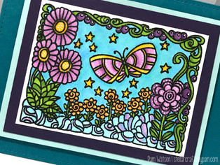Adult Coloring & GIVEAWAY! | featuring Hampton Arts Color Me Stamps