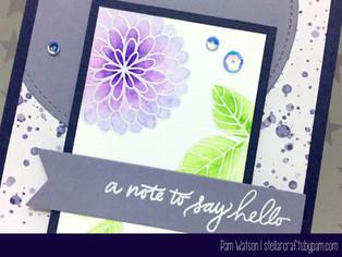 Mojo Monday #454 & Simon Says Anything Goes | SSS July 2016 Handwritten Floral Greetings Card Ki