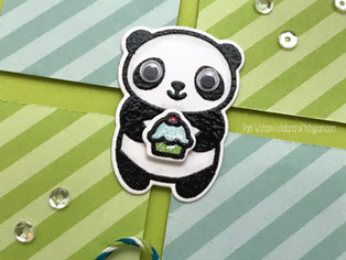 FREE Goodies from Lawn Fawn | Happy Birthday Panda Card Set