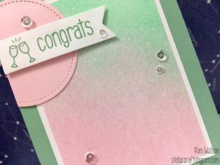 Mojo Monday 451 Contest | Congrats Distress Ink Blending Card