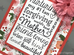 "Mother's Day Card featuring Taylored Expressions' ""Mom Graphic Greetings"" Stamp"