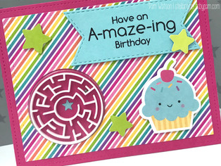Birthday Card | featuring MFT A-maze-ing Card Kit & Doodlebug Fairy Tales Collection