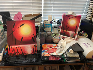 Keep It Colorful: Red Lagoon Painting