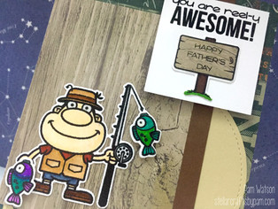Mojo Monday 452 | Your Next Stamp Keepin' It Reel Father's Day Card