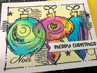 """Card Sketches feature Creative Expressions """"Three Baubles"""" Stamp Set"""