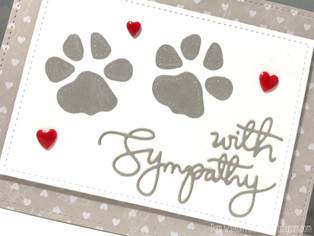 Pet Sympathy Cards featuring Simon Says Stamp