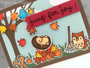 Lawn Fawn Jump for Joy & Cheery Christmas | Happy Birthday Card