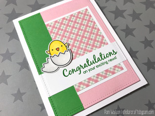 Mojo Monday 478 Contest | Spring New Baby Card featuring Lawn Fawn