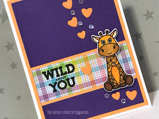 SSS April 2017 Card Kit | Giraffe Wild About You Card